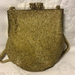 Vintage Bags - Vintage Glass Bead Snap Closure Purse